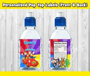 PRINTED THE WIGGLES POP TOP LABEL STICKER PARTY LOLLY SUPPLIES TAG LOOT WATER