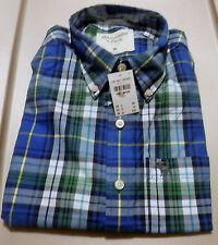 NWT Abercrombie & Fitch Henderson Lake Shirt Blue Plaid Medium by Hollister