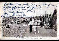 CAYEUX-sur-MER (80) CABANONS de PLAGE animé en 1935
