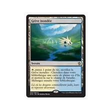 MTG MAGIC KHANS OF TARKIR FLOODED STRAND (FRENCH GREVE INONDEE) NM