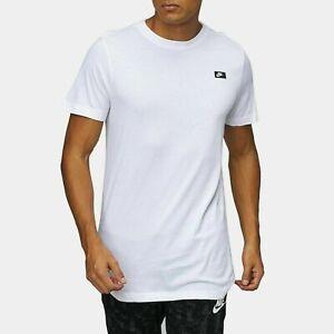 Nike Mens Modern Tee Longline Long Sports T Shirt Black White Half sleeve New