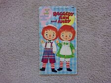 """VINTAGE - RAGGEDY ANN AND ANDY - FIRST DOLL BOOK - WHITMAN 1970 - """"COLLECTIBLE"""""""