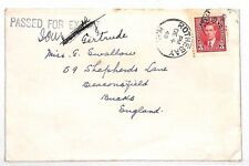 VV141 1940 CANADA WW2 *Rothesay* CDS Scarce Censor GB Mail {samwells-covers}