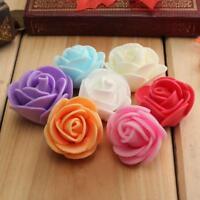 50x Schaum Rose Heads Künstliche Blume Hochzeit Braut Bouquet Party NEW Deko