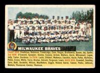 1956 Topps Set Break #95 Milwaukee Braves Team Card VG Name Left *OBGcards*