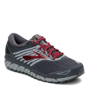 Brooks Beast '18 1102821D030 Running Shoes, Men's Size 12D, Ebony/Primer/Red