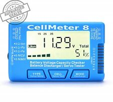 RC CellMeter 8 Digital Battery Capacity Checker Balance Discharger Servo Tester