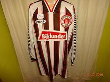 """FC St. Pauli ORIGINALE REUSCH MAGLIA MANICA LUNGA 1995/96 """"böklunder"""" Taglia XL/XXL Top"""