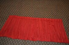 Vintage Red Soft Pinch Pleat Curtains Drapes Valances 75 X 31 Retro With Hooks