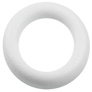 1 Styropor Kranz 50cm, Vollform, weiß - Ring Kreis Rohling DIY (9,49€/1Stk)