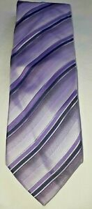 Sergio alvajee Silver collection mauve stripes silk tie made in Italy FREE POST
