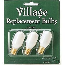 Dept 56 Replacement Light Bulbs 5w 120v (Set/3)  #99244 NEW FREE SHIP 48 STATES