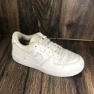 Nike Air Force 1 Low PS Triple White Sneakers Size 3Y 314193-117 Boy Girl Youth