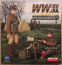 did action figure ww1 ww11 british vickers  1/6 12'' boxed dragon cyber hot toy
