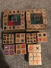 Rubber stamp scrapbook card making lot of 'mini' stamps