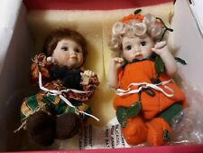 Marie Osmond Doll PUMPKIN & PATCHES Petite Toddler Porcelain Dolls In Box
