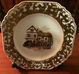 VINTAGE LIVERPOOL RD POTTERY LTD STOKE ON TRENT WALL PLATE