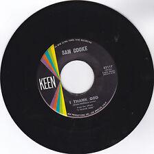 SAM COOKE-KEEN 2117 SOUL 45RPM I THANK GOD B/W WITH YOU VG++