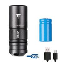 Aluminum Alloy Tiny Flashlight 612/890cd Mini EDC 220LM Torch USB Rechargeable