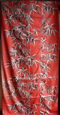 Panneau de tissu Art déco dessin de Pascaline Villon  Roseaux 2,43 m X 92 cm