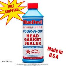 NEW-SEALED-Blue-Devil-Head-Gasket-Sealer-Permanent-Sealant-16-oz-Pour-N-Go