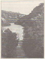 G0350 France - Bellegarde - Piste du Rhone - Stampa d'epoca - 1923 Old print