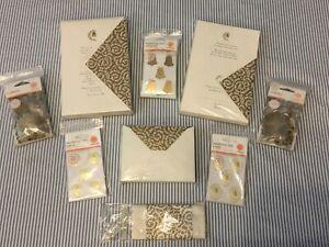 Martha Stewart Wedding Lot - Wedding Bell Invitations, Confetti, Seals, Stickers