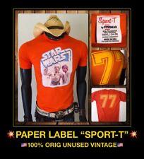 THIN vTg 77 NOS Star Wars LUKE SKYWALKER orig Han Solo Chewbacca story T-Shirt S
