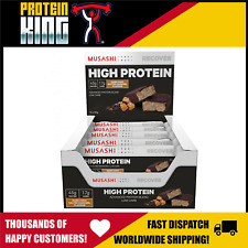 12 x Musashi Low Carb High Protein Bars Dark Choc Salted Caramel 90g