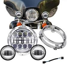 """7"""" LED Daymaker Headlight +Passing Lights Fit Harley Electra Glide Ultra Classic"""