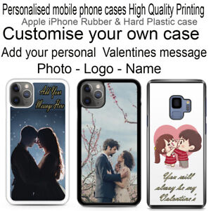 Personalised for iPhone Phone Rubber/ Hard Plastic case. 12,11,XS,XR,X,8,7,6,,5