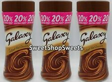 3 Tubs Galaxy Hot Chocolate Instant Choc Drink Just Add Hot Water