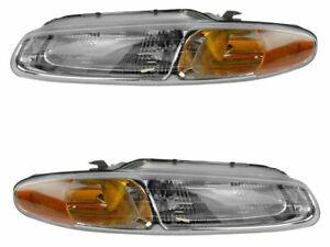 Headlight Assembly Set 2TBW12 for Chrysler Sebring 1998 1996 1997 1999 2000