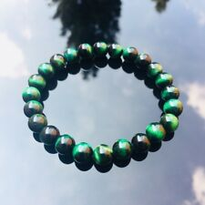 Natural Gemstone Green Tiger Eye Beaded Elasticated Bracelet Healing Stone 7-8''