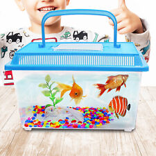 Starter Aquarium Small Set Pets Reptile Turtle Frog Cage Carry Handle Fish Tank