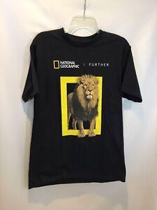 New National Geographic Men's Black Short Sleeve T-Shirt 100% Cotton Size Medium