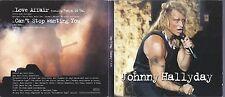 Johnny Hallyday CD 3458 HC deux titres Love Affair pochette carton ouvrante