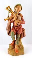 FONTANINI ITALY pastore sacco PIPA statuina presepe 16cm VINTAGE 1983
