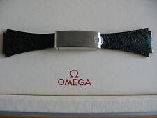 Nos Omega piel de tiburón Correa de implementación 20mm & Broche de tipo 27-muy Raro!!!