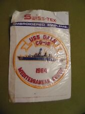 US NAVY PATCH USS DALE CG-19 mediterranean cruise 1984 / SWISS-TEX