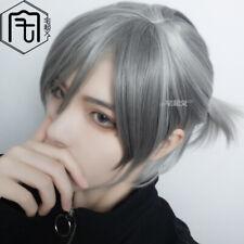 Wig Harajuku Men Everyday Party Cosplay Hairpiece Gay Curly Hair Short
