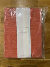 John Lewis Ginger Orange Knit Baby Blanket New BNWT