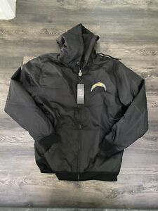 Los Angeles Chargers Jacket Zip Up Mens Medium with hood