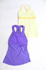 Lululemon Women's Tank Tops Yellow Purple Size Small Lot 2