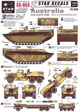 Star Decals 1/35 AUSTRALIA TANKS & AFVs in WWII Part 1 LVT-4 & M19 Diamond T