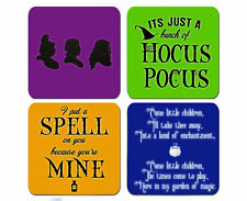 Hocus Pocus Put A Spell On You Coaster Set Of 4 Neoprene Bar Coffee Table