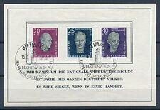 Briefmarken der DDR (1955-1959) als Satz mit Sonderstempel