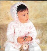 Vintage Baby Girls Knitting Pattern Loopy Hoodie Cardigan DK 6 - 18 months S3278