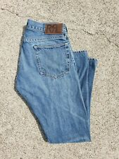 RRL RALPH LAUREN SELVEDGE DENIM JEANS 30x32 SLIM FIT MADE IN USA LIGHT WASH BLUE