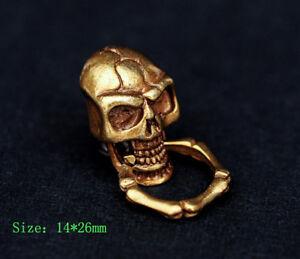 10PC 29X14MM Coppper Leathercraft Skull Ring rivet stud screwback Conchos Wallet